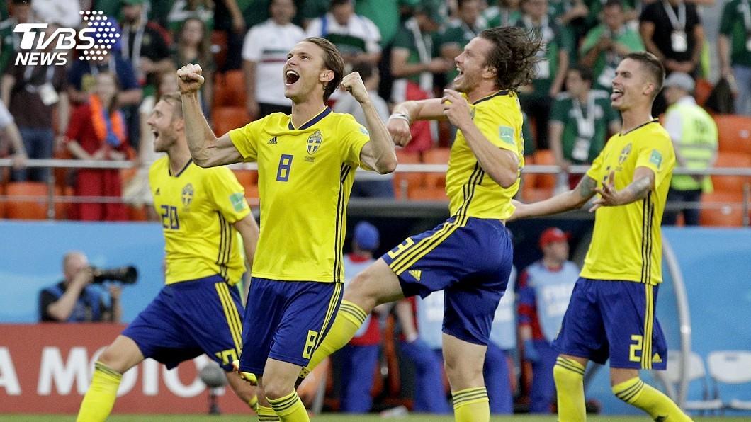 圖/達志影像美聯社(世足賽) 瑞典3比0勝墨西哥 雙雙晉級16強