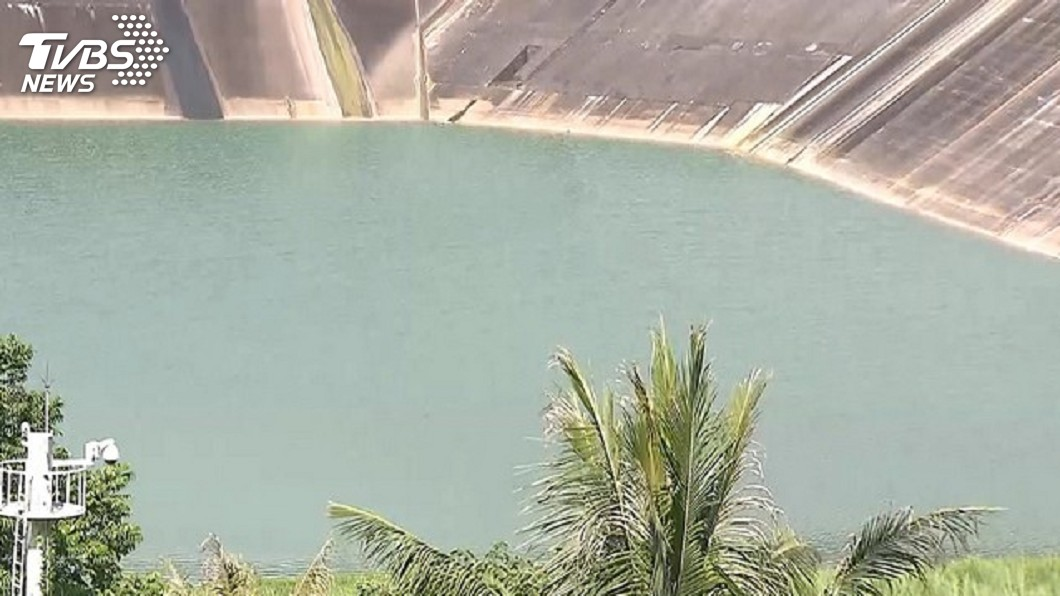 圖/TVBS資料畫面 白河水庫蓄水率近7成 供灌台南二期稻