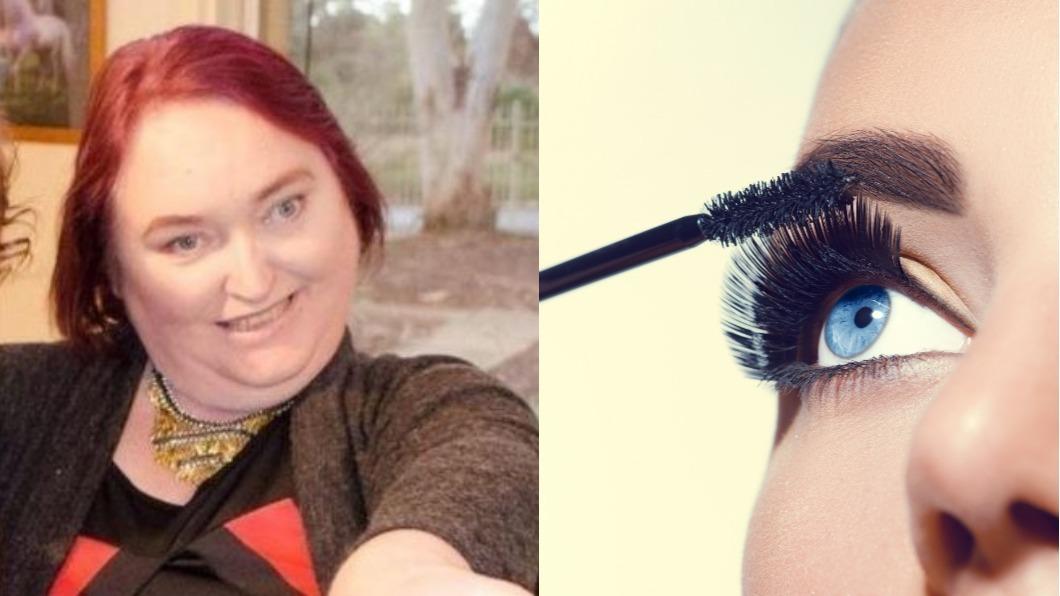 圖/翻攝自波特(Shirley Potter)臉書 婦人省錢用「陳年」睫毛膏 雙眼感染3年內失明