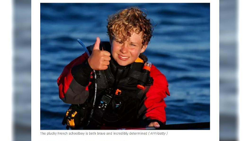 圖/翻攝自Independent 破世界紀錄! 法12歲小水手橫渡英吉利海峽