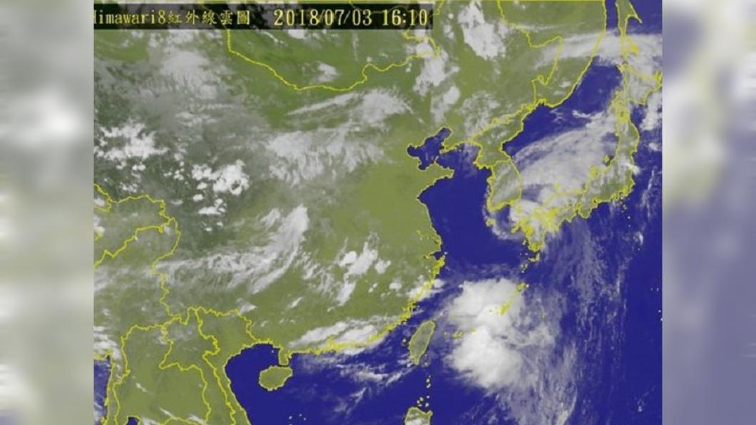 圖/中央氣象局 熱帶低壓生成!氣象局:最快明形成颱風「瑪莉亞」