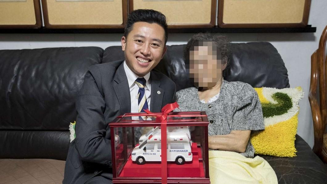 圖/新竹市府提供 感動!90歲中風阿嬤捐救護車 堅持砸畢生積蓄350萬