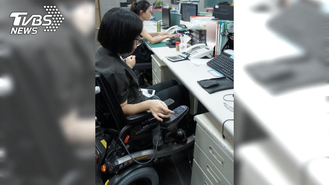 圖/中央社 不畏身障環境挑戰 女鬥士成快樂職場人