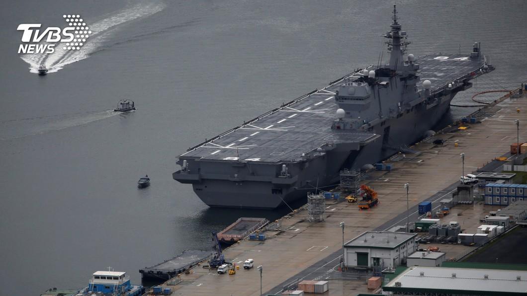圖/達志影像路透社 日本護衛艦加賀號 傳將巡航南海及印度洋