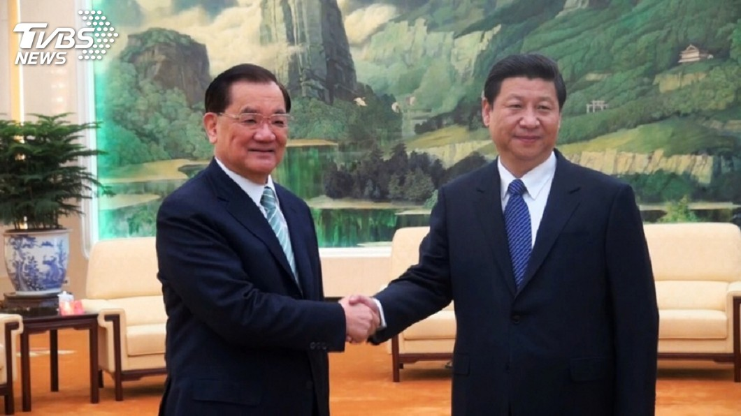 圖/TVBS 連戰將會習近平 獨派團體批:聯共制台的急先鋒