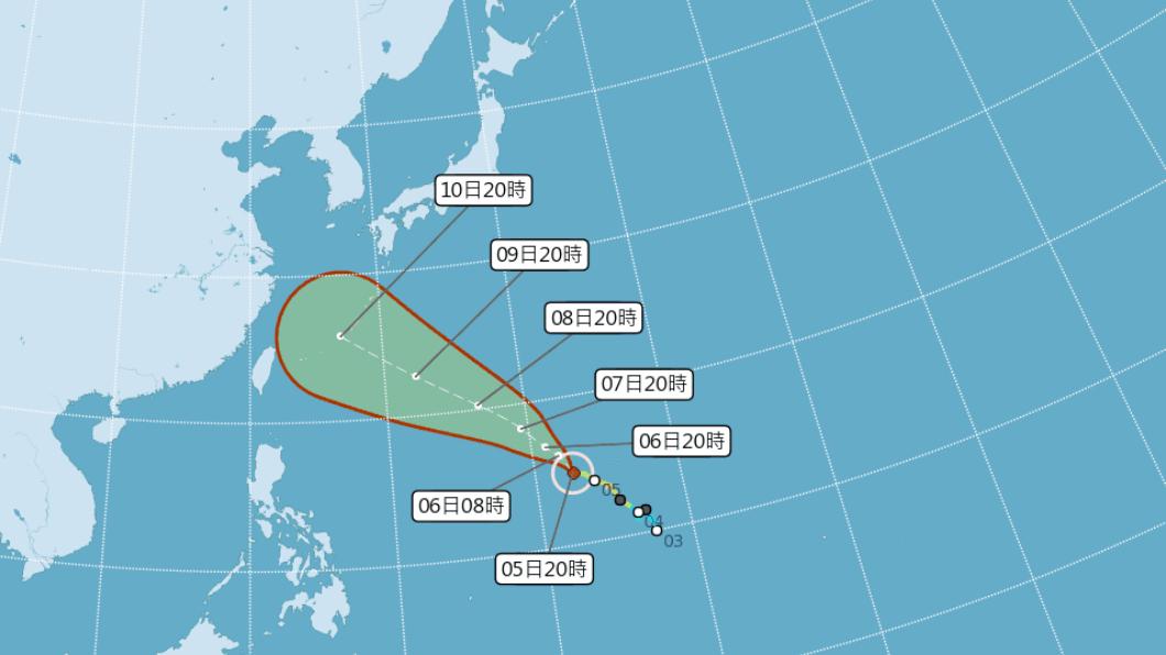 圖/中央氣象局 瑪莉亞不排除成「強颱」 10日最接近台灣!