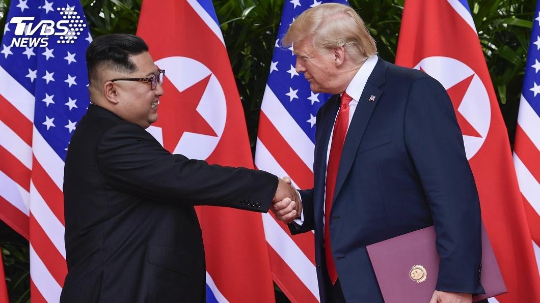 圖/達志影像美聯社 為金正恩緩頰 川普稱北韓8個月沒挑釁