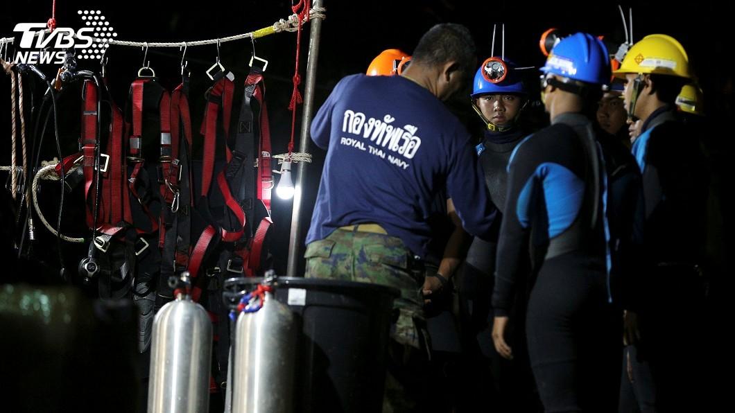 圖/達志影像路透社 救援泰少年足球隊員 救援指揮官:不合適潛水脫困