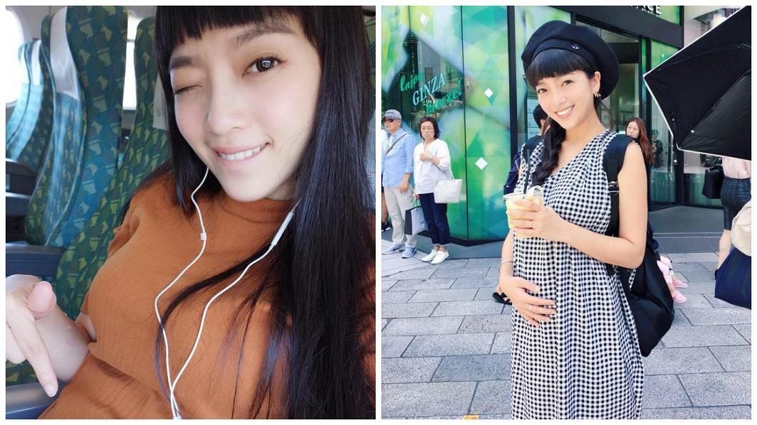 貝童彤上月13日在臉書直播開心宣布懷孕3個月了。(圖/翻攝自貝童彤臉書) 寶寶被子宮夾扁…貝童彤「二次產檢」失望哭哭