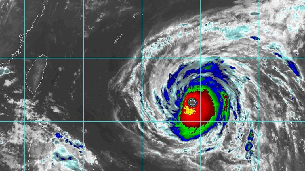 圖/RAMMB 瑪莉亞長胖!颱風眼大如台北盆地 週三清晨影響最劇