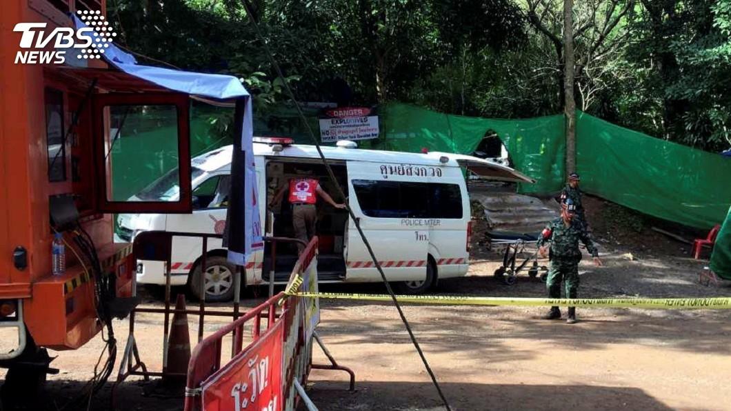 圖/達志影像路透社 泰國再救出受困4人 剩5人計劃明天救出