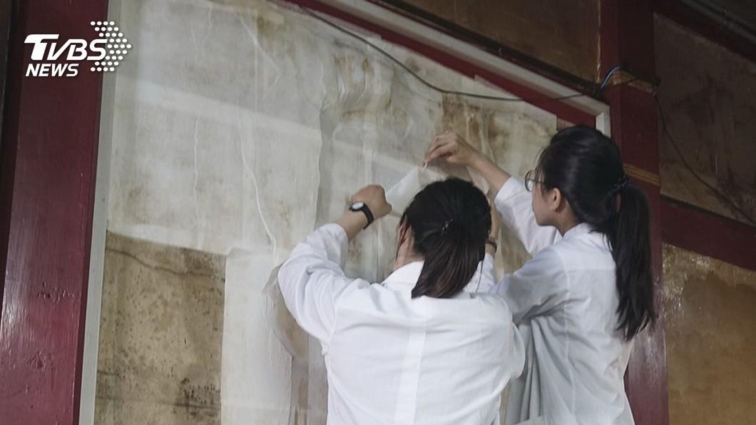 圖/中央社 林玉山寺廟彩繪 濕壁畫啟動修復