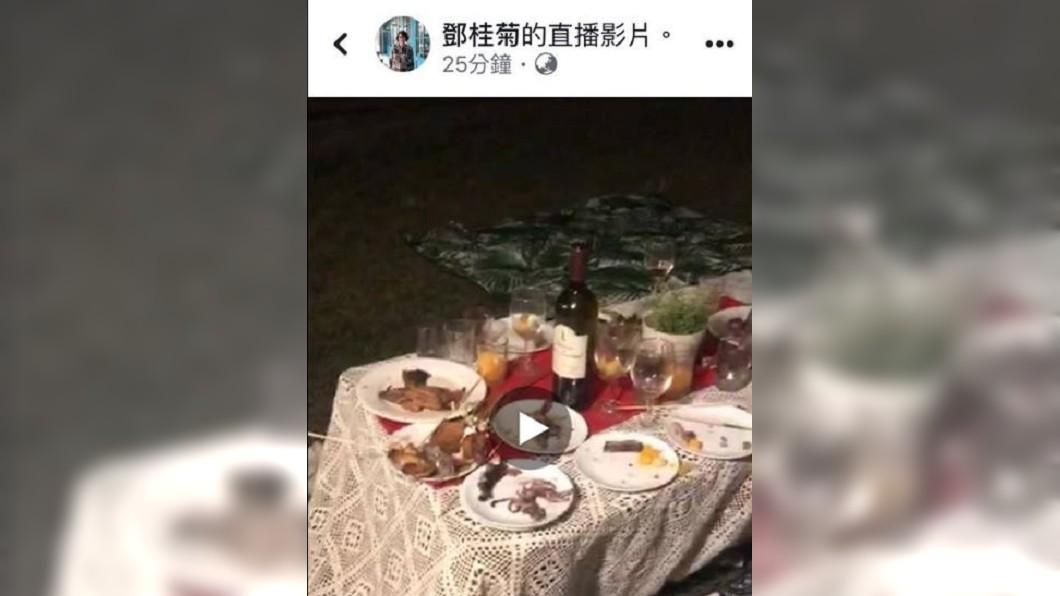 圖/翻攝陳光軒臉書 颱風將襲台!苗副縣長直播「紅酒宴」 他怒轟:別回來