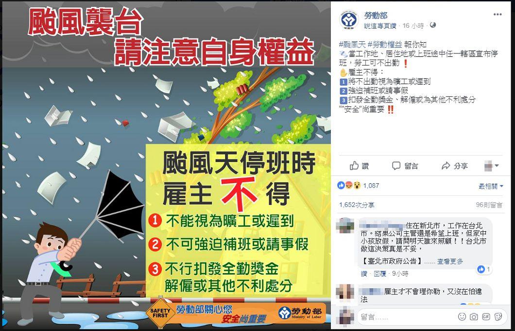 圖/勞動部臉書