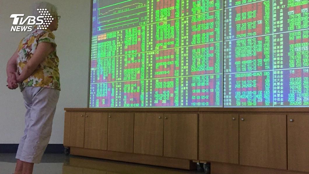 圖/中央社 台股震盪走低 收跌80.05點