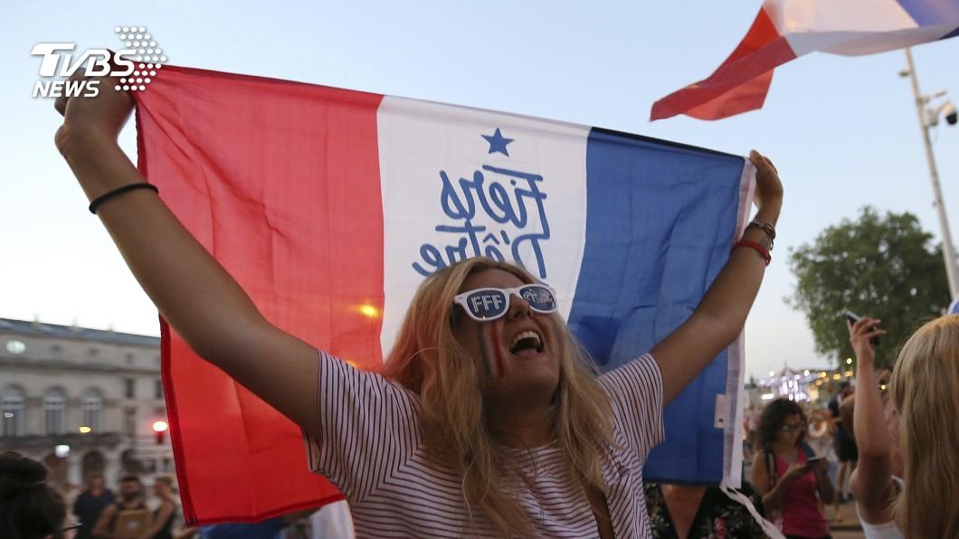 圖/達志影像美聯社(世足賽) 法國奪冠有望 球迷遙想1998年榮光