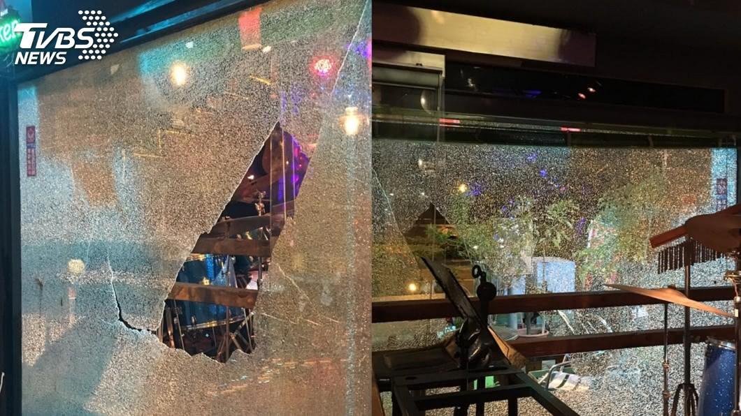 台南木棉道餐廳玻璃被震碎,所幸無人受傷。圖/台南木棉道餐廳 授權提供 台南5級地震!知名民歌餐廳玻璃震碎 安平區5里停水