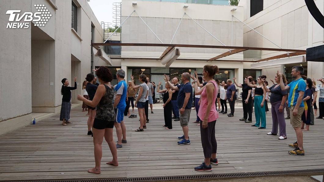 圖/中央社 雲門海外巡演終站 將太極導引帶到米羅美術館