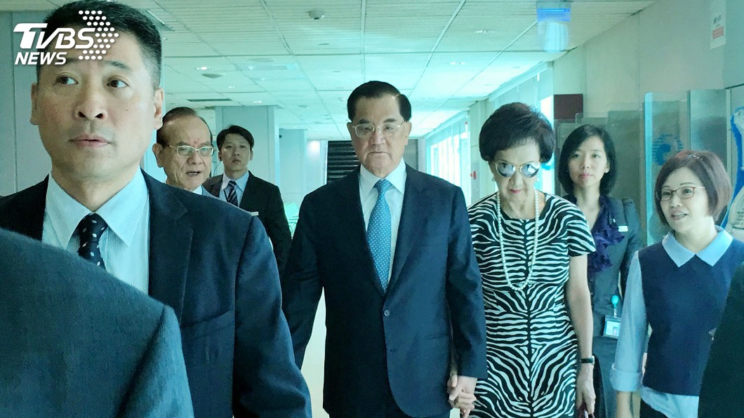 圖/中央社 連戰率團出訪北京 預計13日連習會