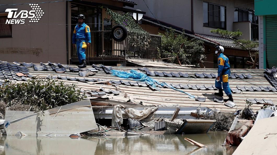 圖/達志影像路透社 日本淹大水 高齡者無力爬到2樓不幸罹難
