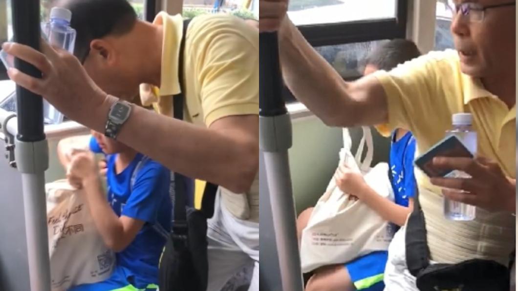 圖/翻攝自微博 當人肉坐墊逼讓位!男童嚇哭阿伯怒嗆:我老人又身障