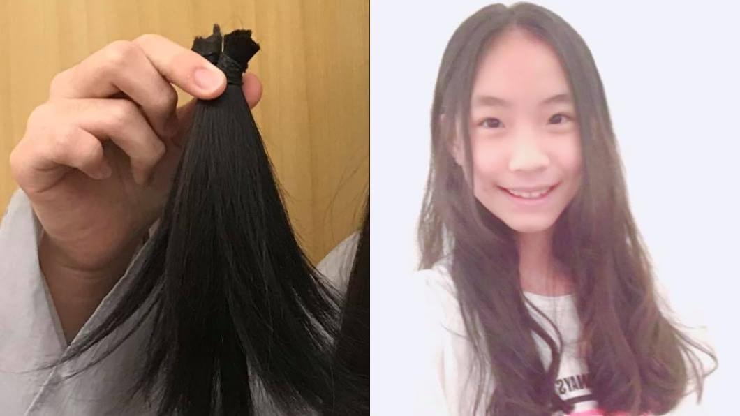 翻攝自/小S臉書 暖心!二女兒剪長髮捐助癌友 小S直呼好欣慰