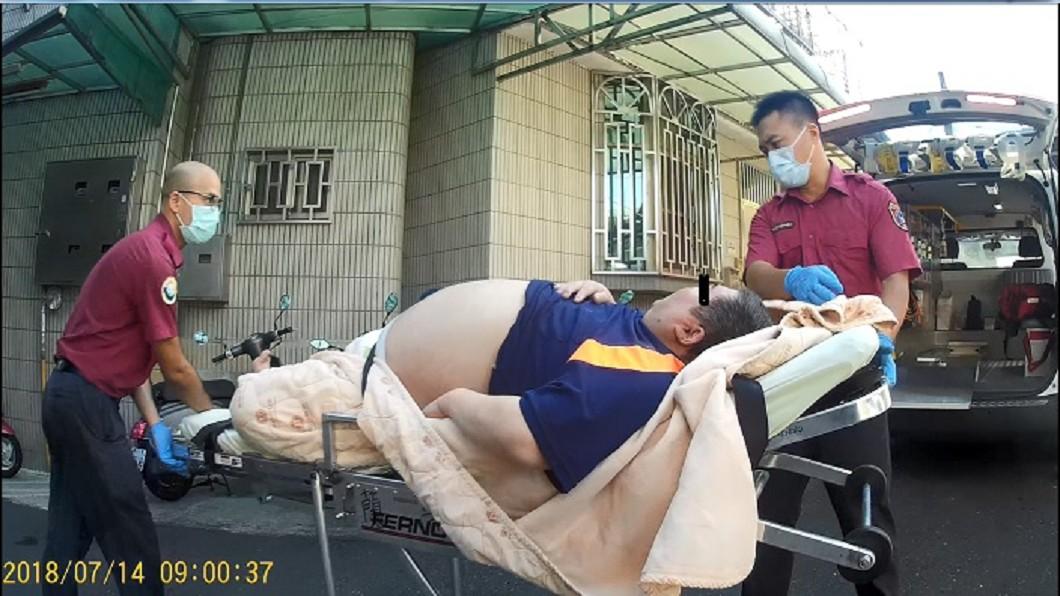 圖/嘉義市政府消防局官網 百公斤男頭痛就狂叩119 消防猛男怒開8百元罰單
