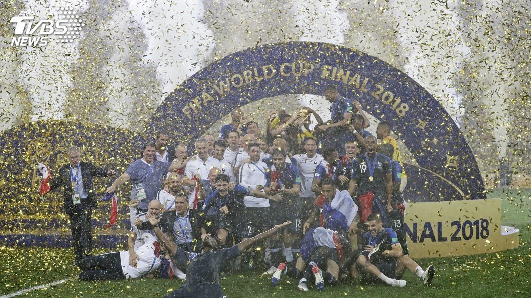 圖/達志影像美聯社(世足賽) 世足冠軍賽 法國4比2勝克羅埃西亞