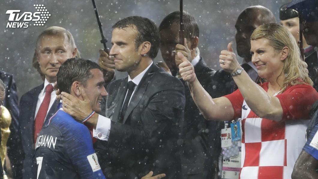 圖/達志影像美聯社 (世足賽) 法國稱霸世界盃足球賽 馬克宏民調有望沾光
