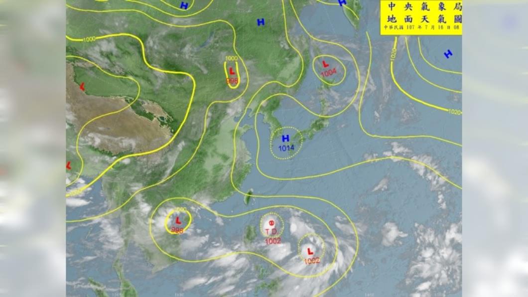 圖/中央氣象局 雙颱恐接力生成? 氣象局:今明2天是關鍵