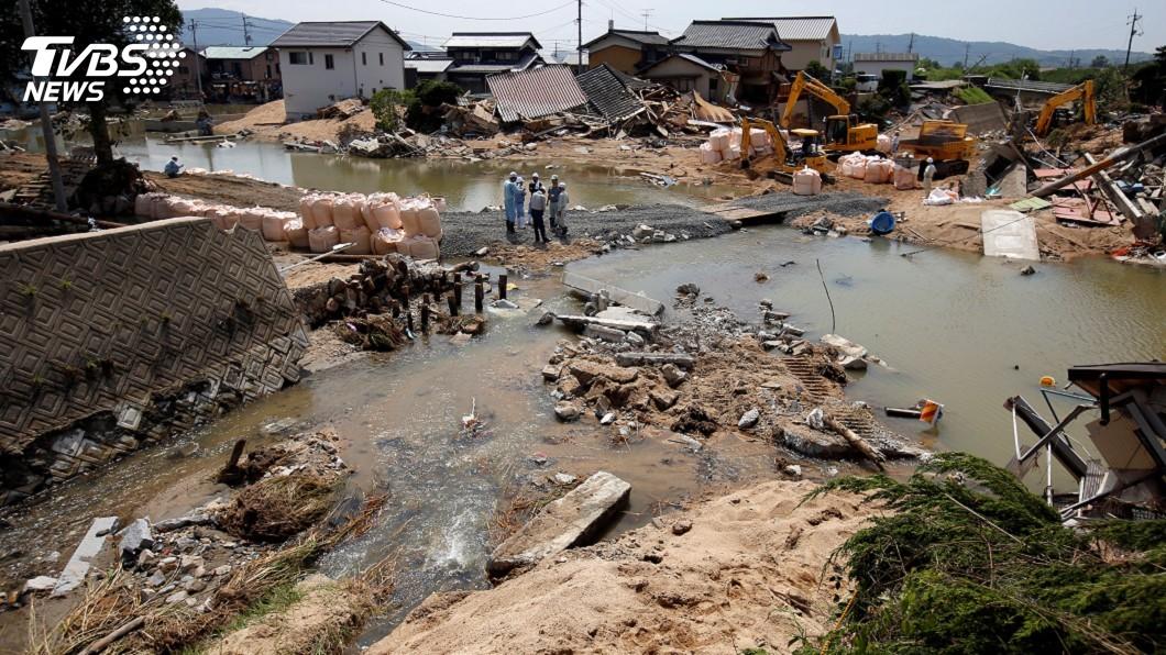 圖/達志影像路透社 豪雨重創西日本 造成219死21失蹤