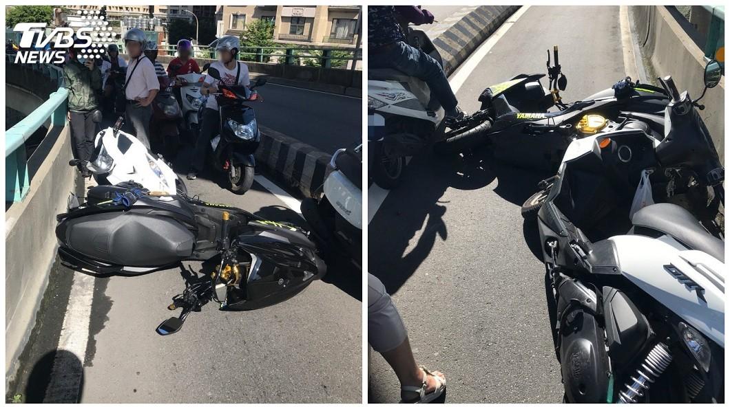 這起逆向車禍一共造成3輛車發生擦撞意外。(圖/TVBS)