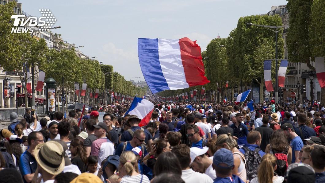 圖/達志影像美聯社 法國世界盃奪冠球迷慶祝嗨過頭 近300人被捕