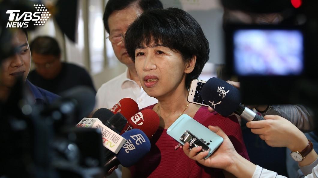 圖/中央社 陳佩琪向三立求償500萬元 北院首度開庭