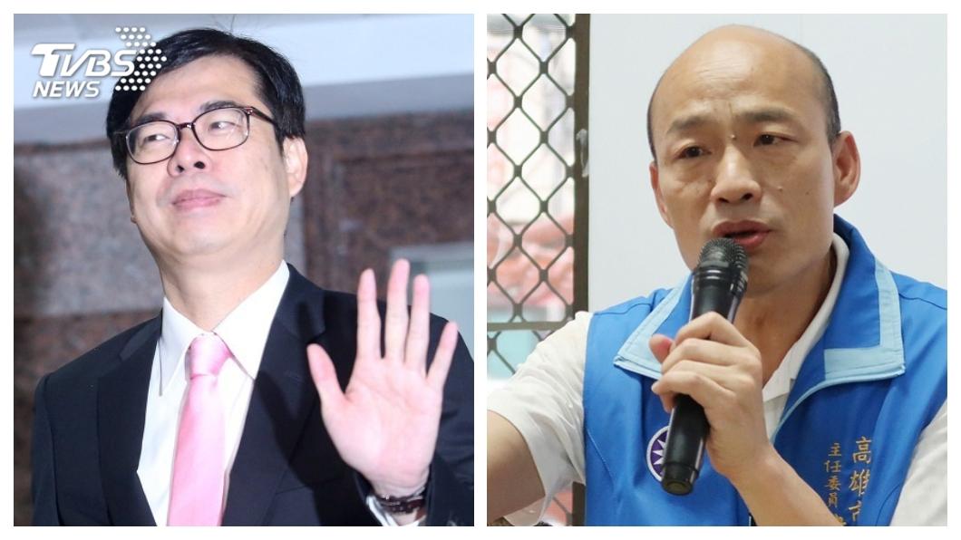 圖/中央社 陳其邁「北漂青年」廣告惹議 韓國瑜:民進黨真的沒重視