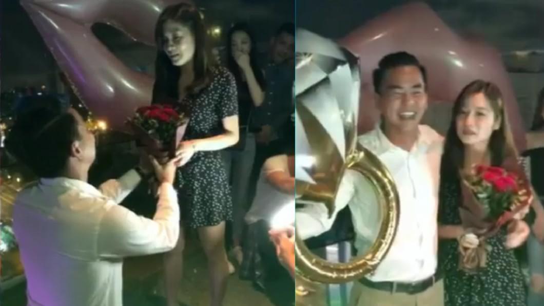 圖/翻攝自 臉書 柯有倫情定2年女友 下跪求婚畫面曝光