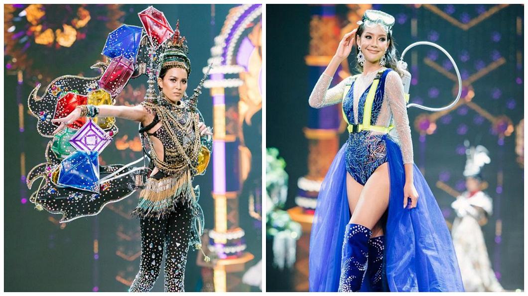 其他佳麗的民族服飾也是五花八門。(圖/翻攝自Miss Grand Thailand臉書粉絲團)
