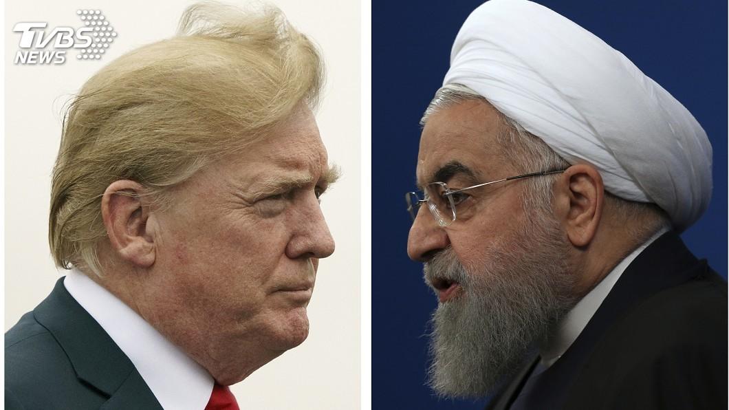 圖/達志影像美聯社 川普走與北韓互嗆老路 槓上伊朗疑藏心機
