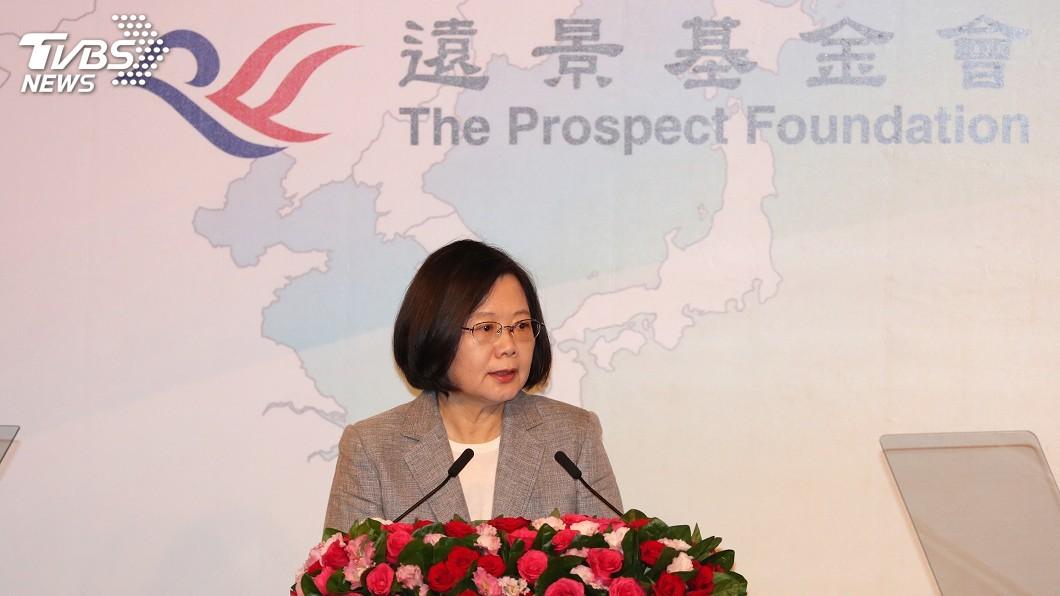圖/中央社 中國銳實力影響鄰國 總統:台灣捍衛民主