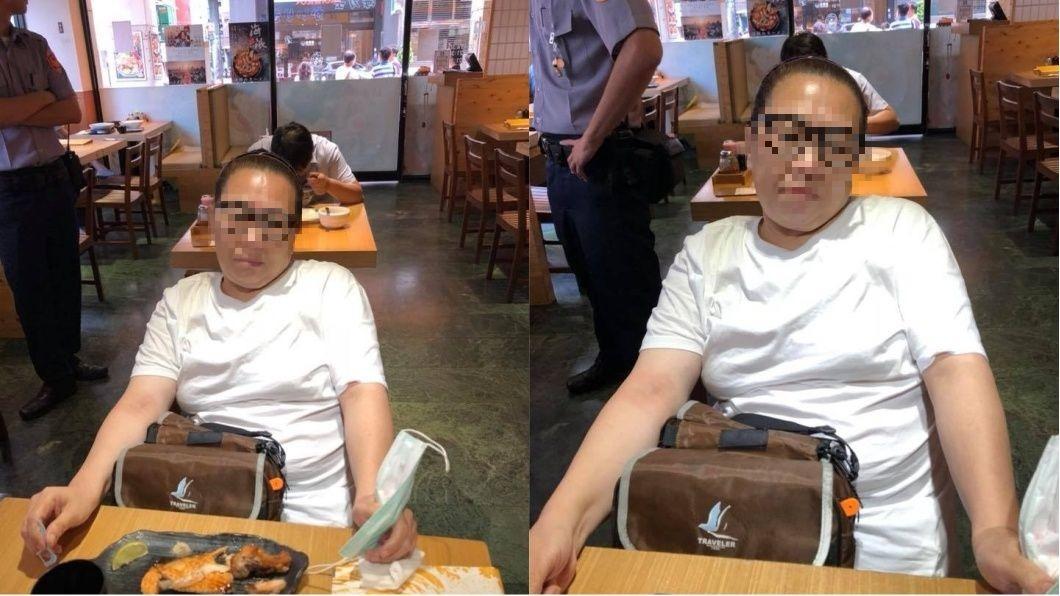 圖/翻攝自臉書「爆料公社」 大媽爽吃霸王餐成慣犯 警無奈:她有免費律師