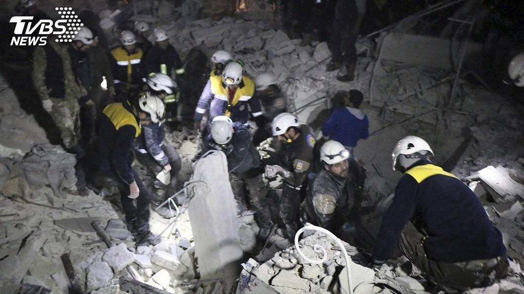 圖/達志影像美聯社 美、以挺白盔撤離敘利亞 阿塞德政權不悅