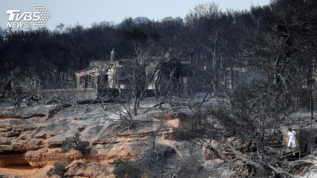 圖/達志影像路透社 熱浪來襲希臘野火肆虐 74死170傷