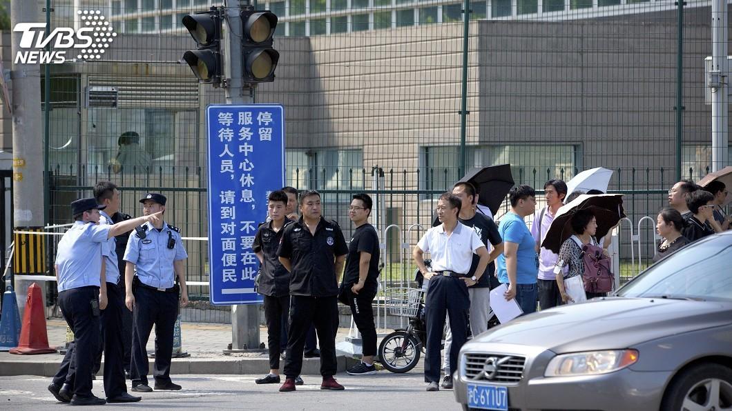 圖/達志影像美聯社 網路流傳爆炸影片 美北京大使館證實傳聞
