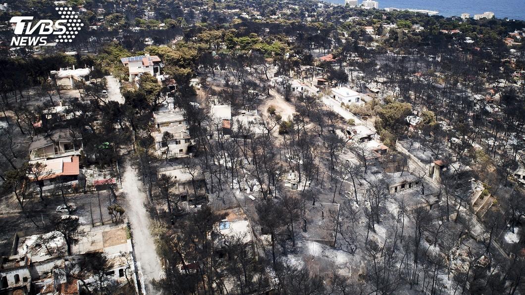 圖/達志影像美聯社 希臘野火導致83死 政府懷疑有人縱火