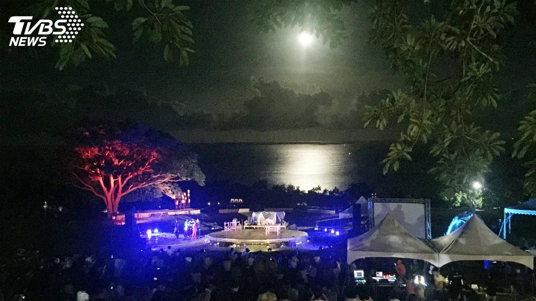 圖/中央社資料照片 快訊/颱風遠離台灣! 台東月光海音樂會如期舉行