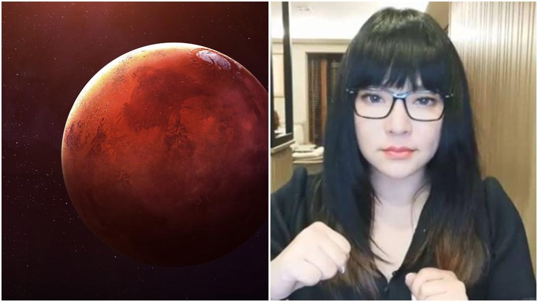 示意圖TVBS、唐綺陽臉書 錯過再等17年!「火星衝」登場 唐綺陽卻勸:別看為妙