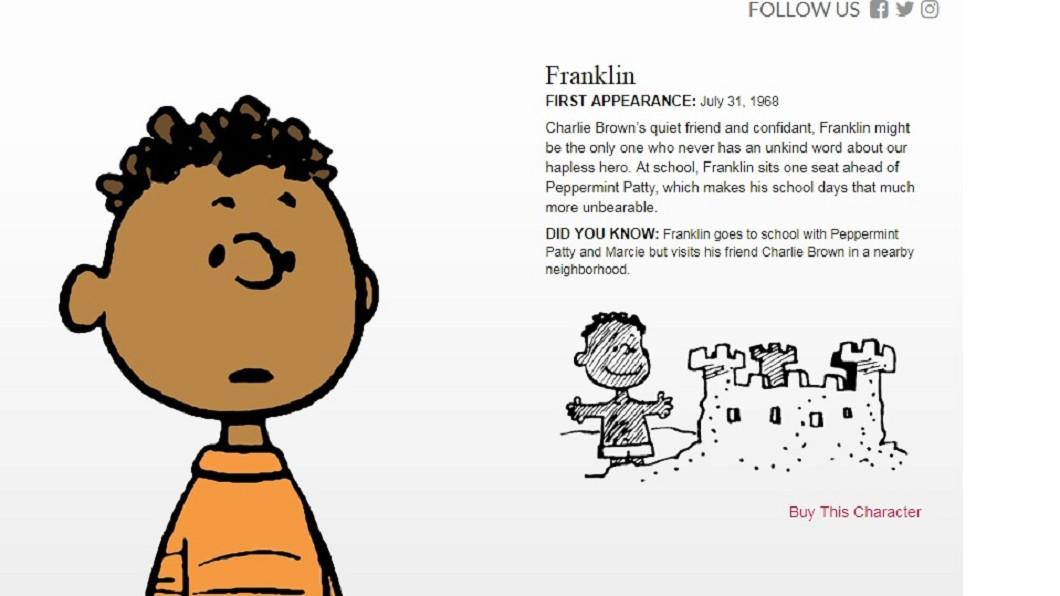 圖/翻攝自peanuts官網 史努比漫畫內黑人小孩 誕生有段感人小故事