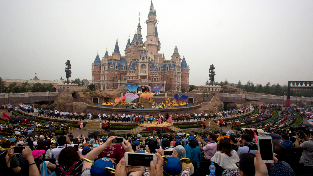 圖/達志影像美聯社 快訊/配合防疫 上海迪士尼1/25起暫時關閉