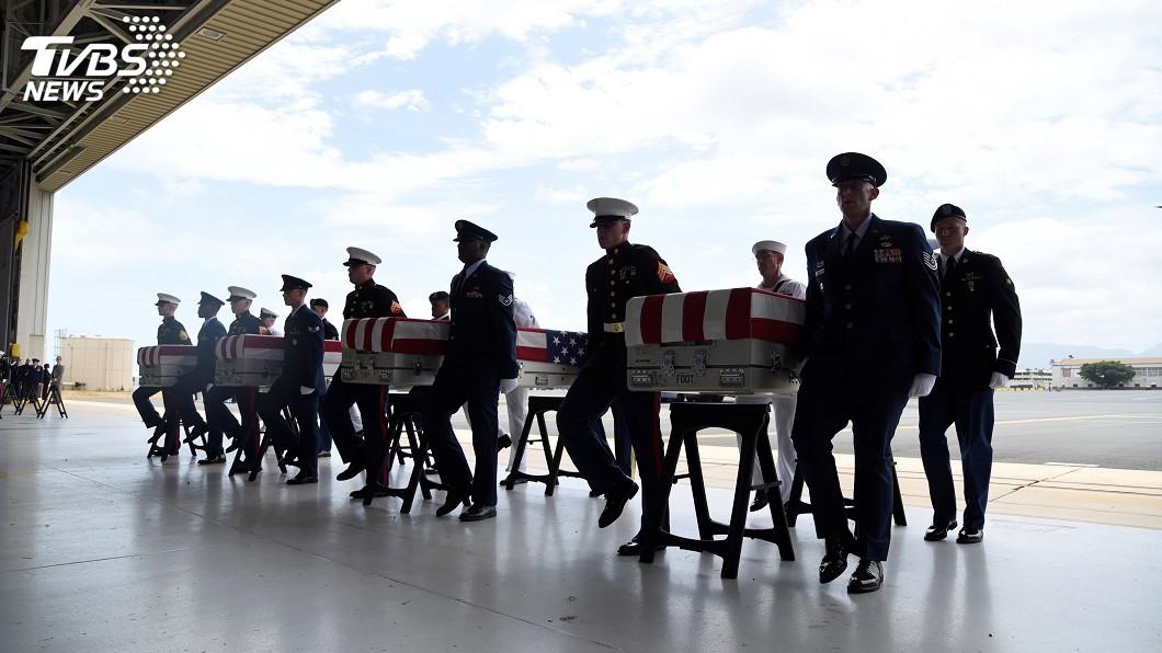 圖/達志影像路透社 返鄉韓戰美軍遺骸 部分出自長津湖戰役地點