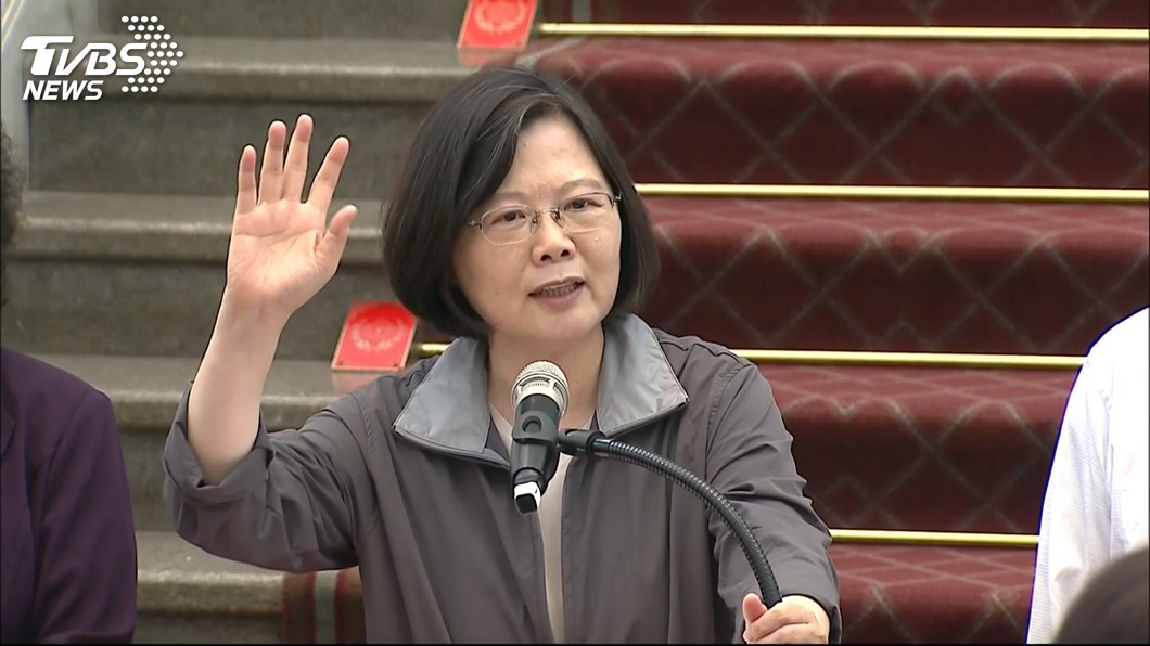蔡英文民調持續低迷,黨內逼宮傳言四起。圖/TVBS